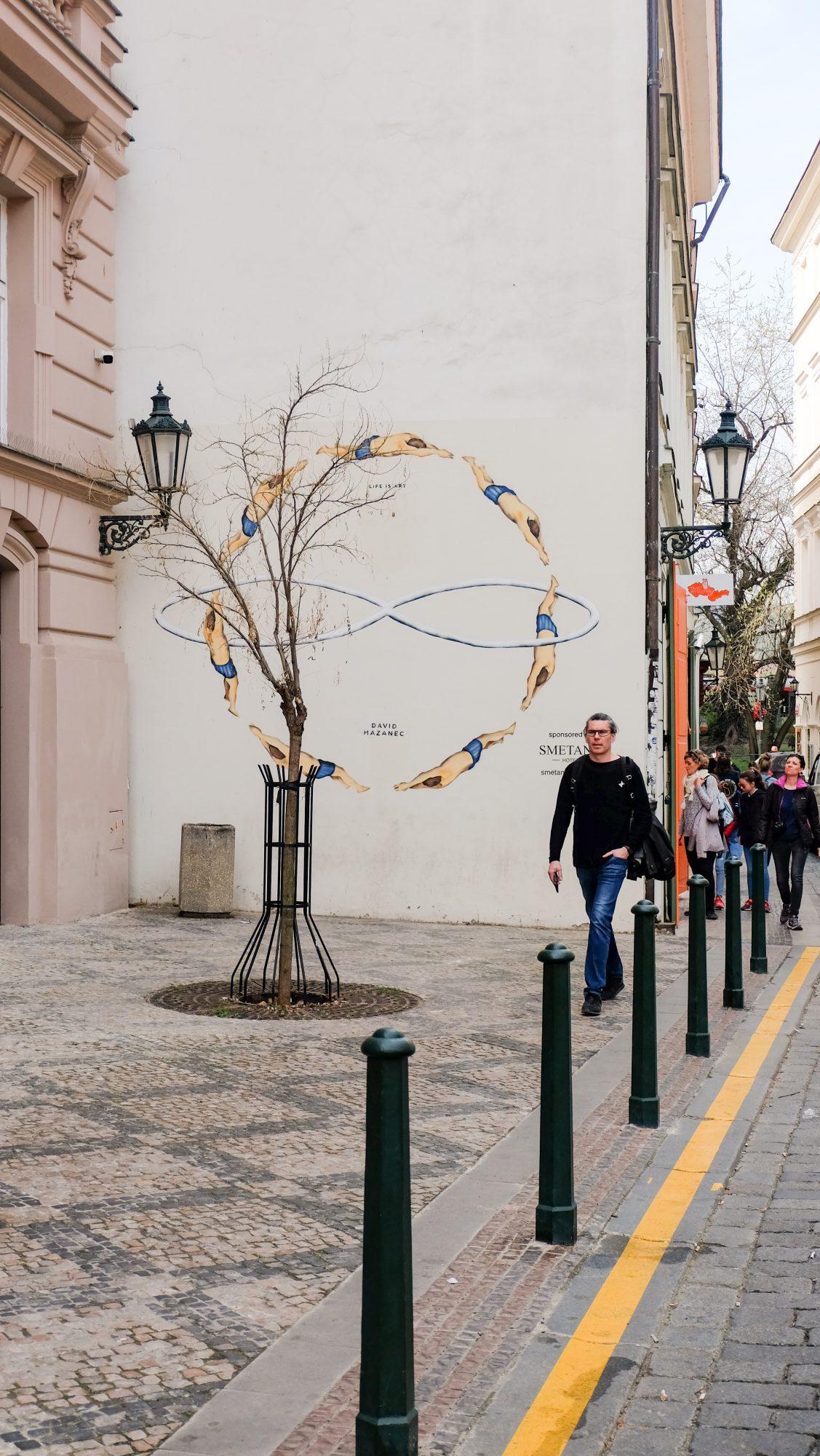 Rue calme à Prague