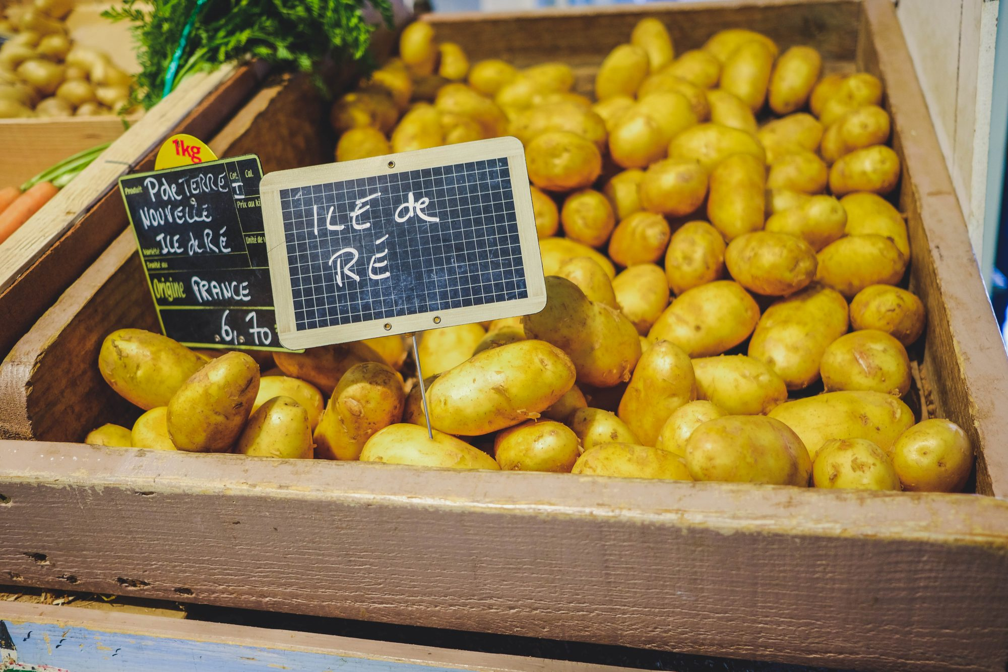 Pomme de terre nouvelle : spécialité de l'ïle de Ré - La Flotte en Ré, Ile de Ré