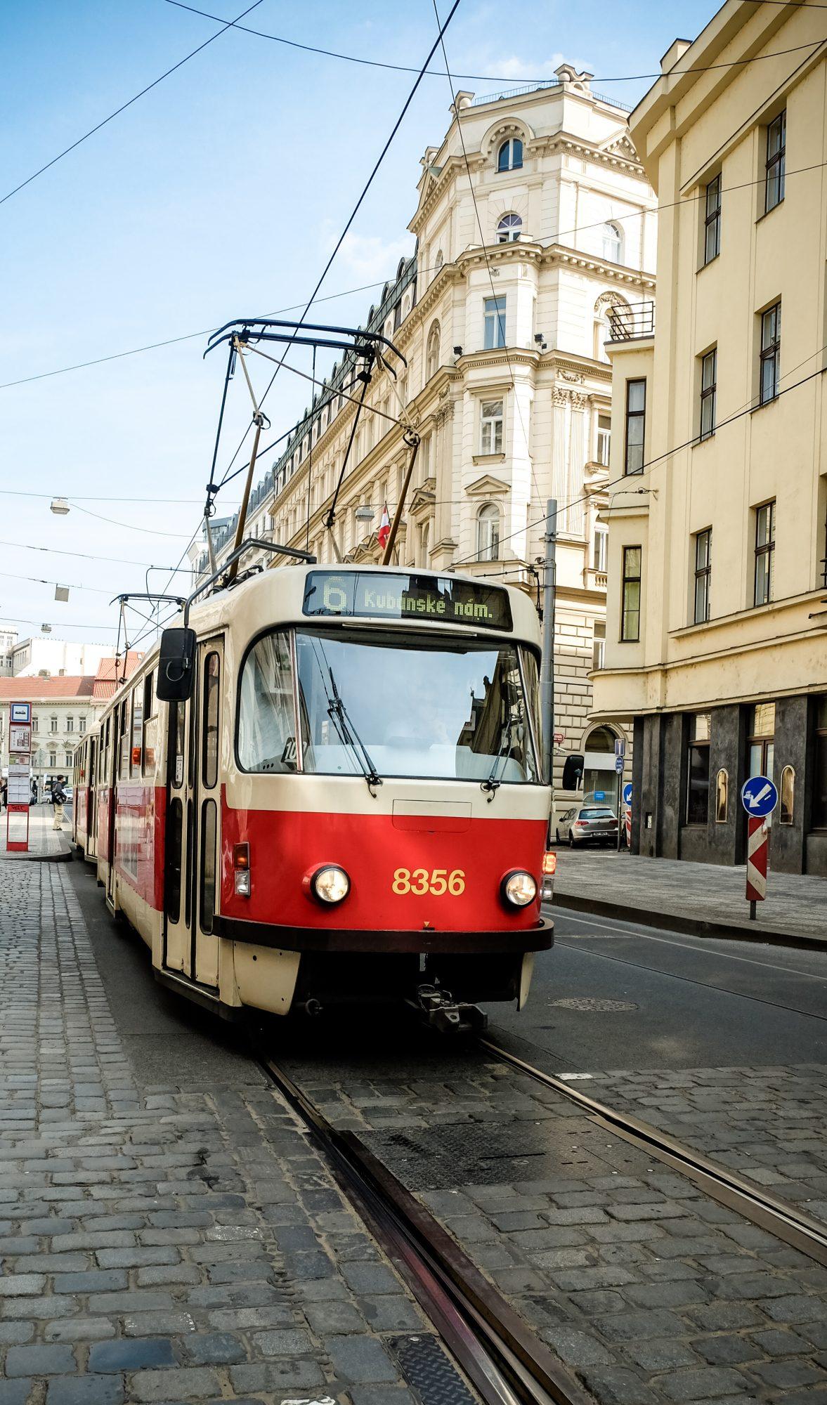 Un vieux tramway Tchèque