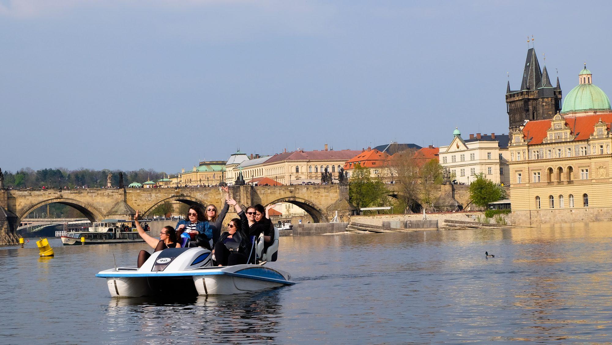 Vue sur les clochers de Prague