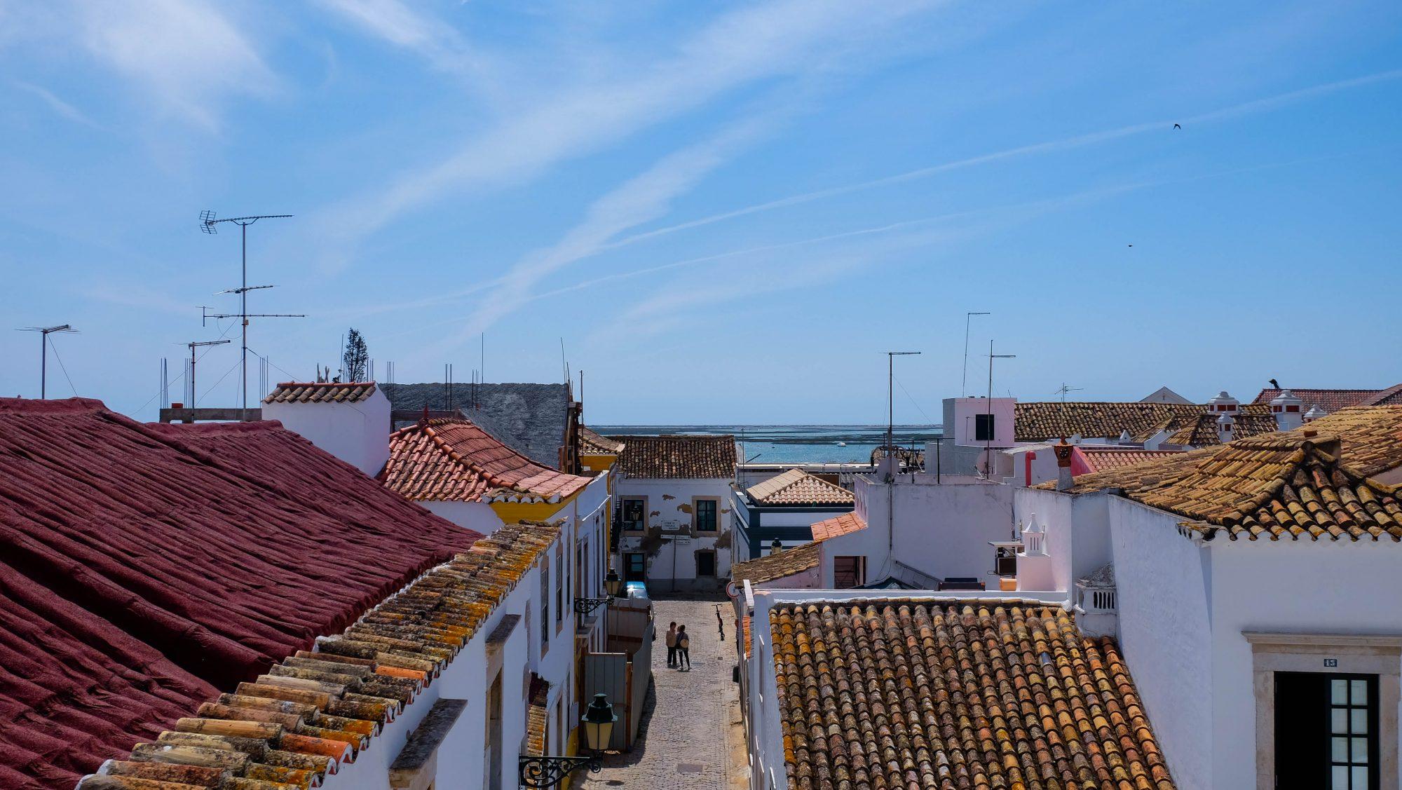 Vue du Rooftop - Faro, Portugal