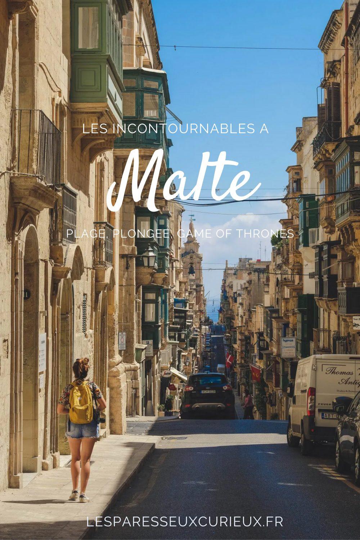 Pinterest Pin incontournables Malte