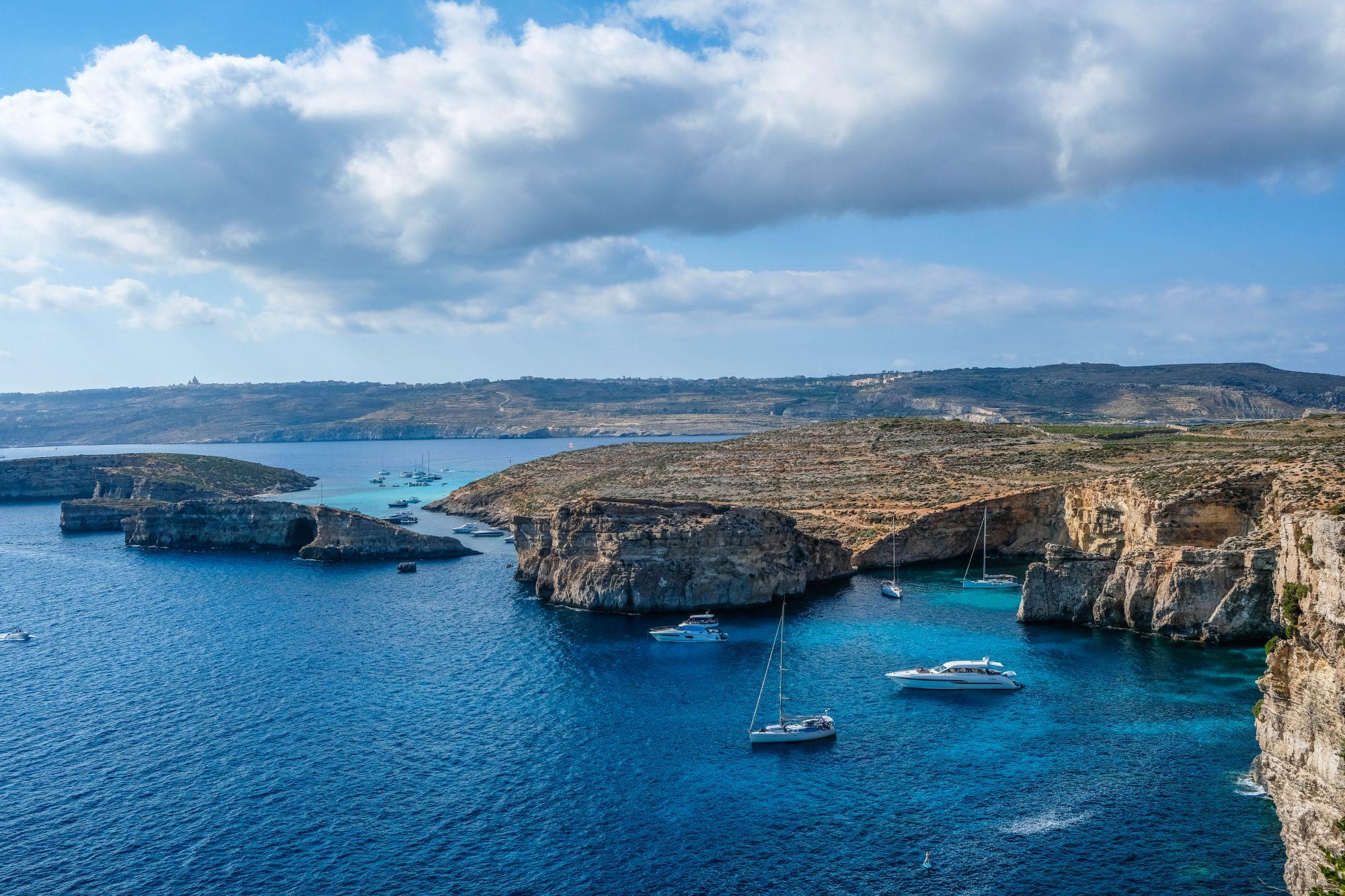 Blue Lagoon et Gozo en fond