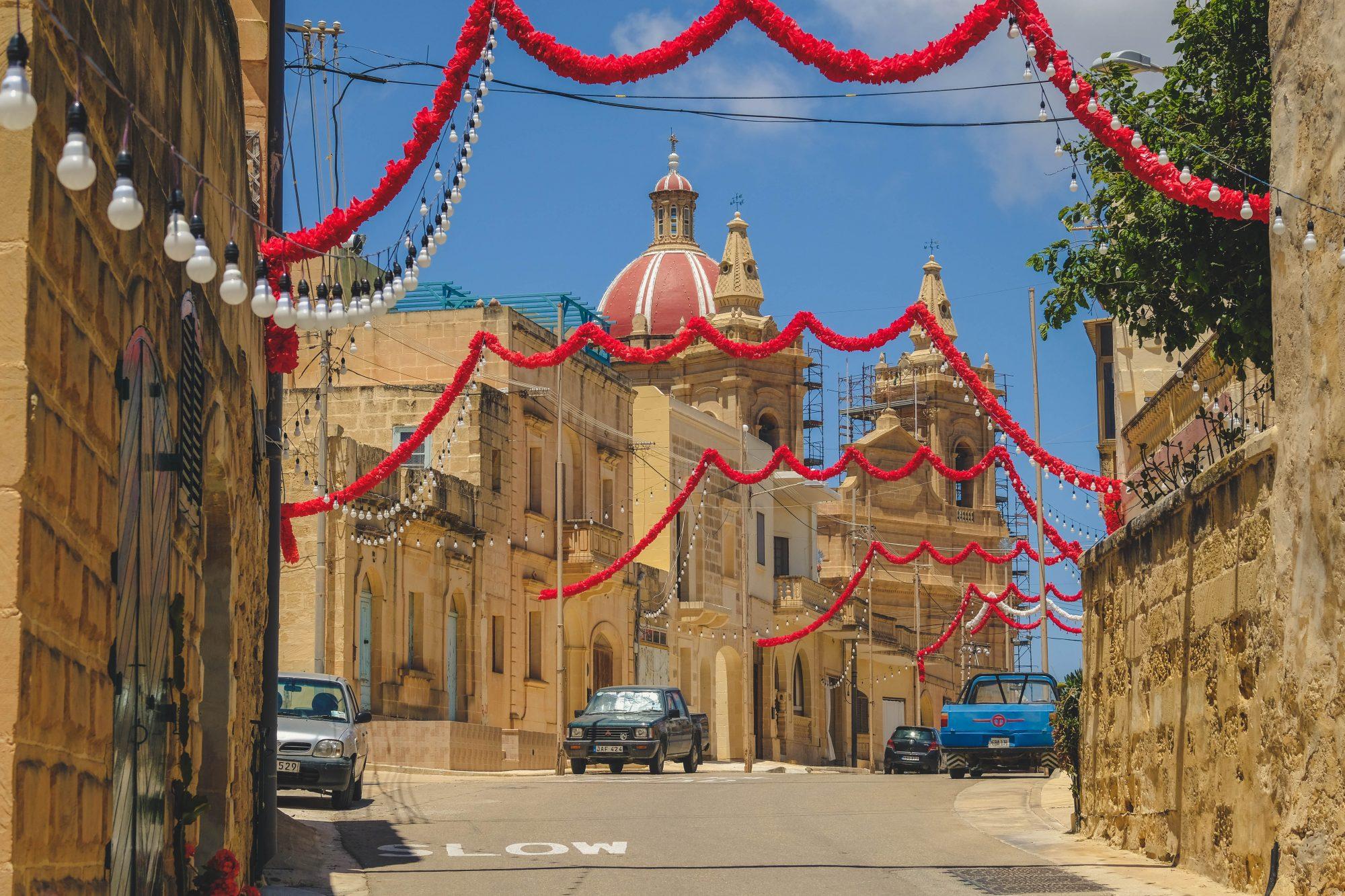 L-Ghasri et son église décorée - Malte Gozo