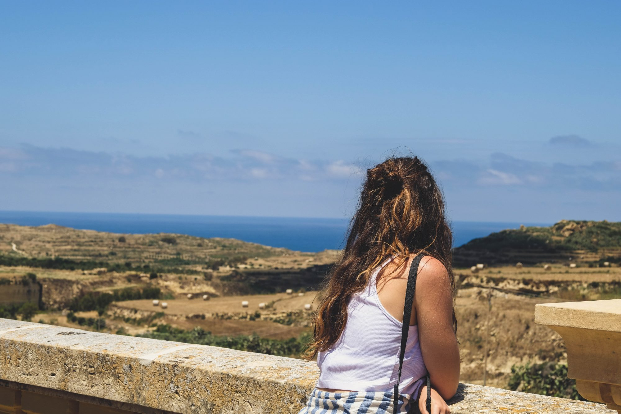 Vue sur la campagne de Gozo - Malte