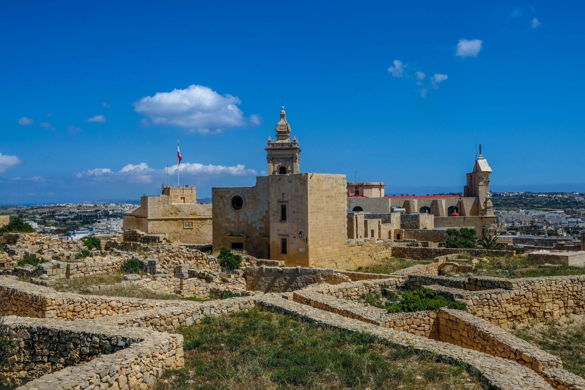 Vue depuis les remparts - Ir-Rabat Gozo Malte