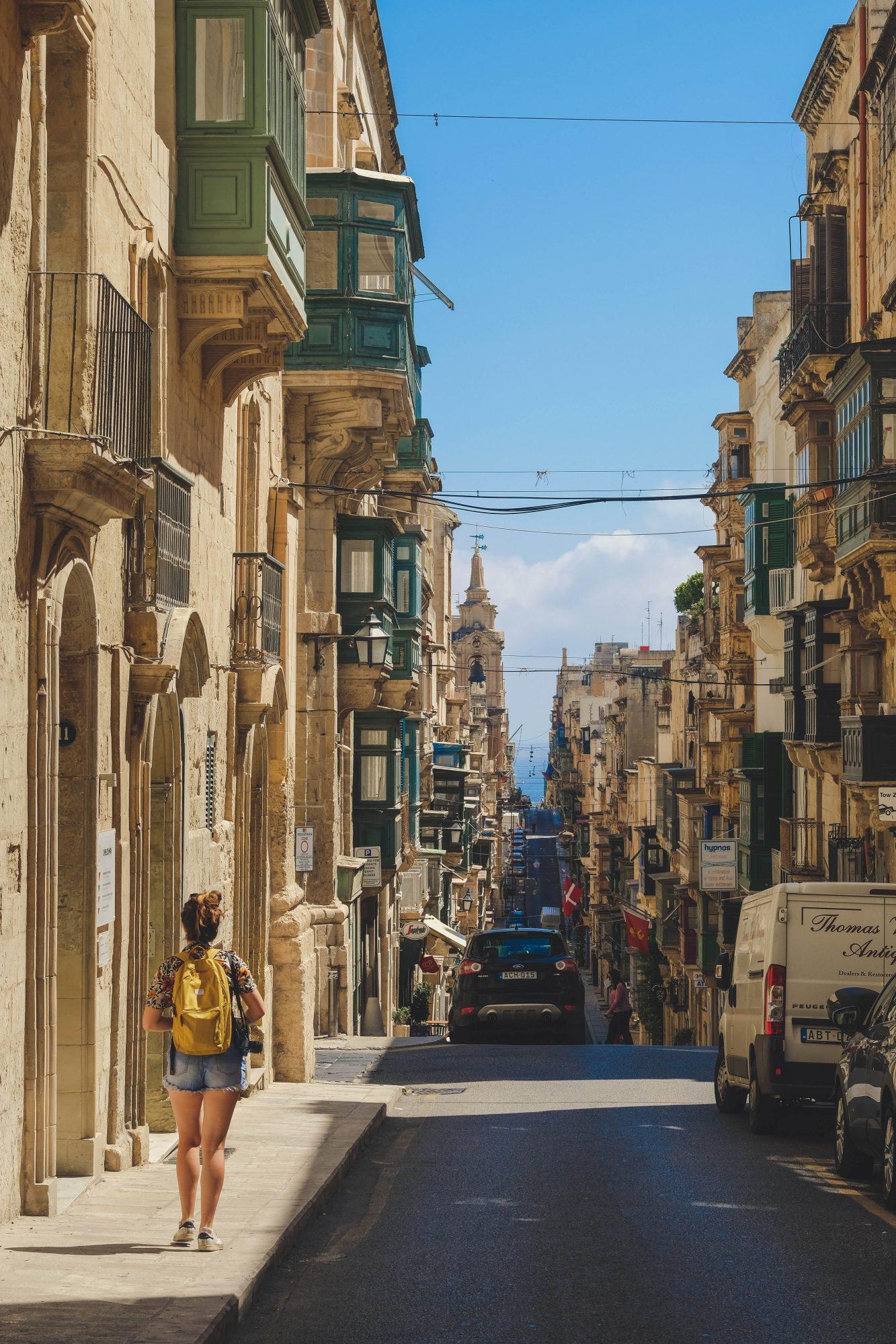 Rue de la capitale - La Valette Malte