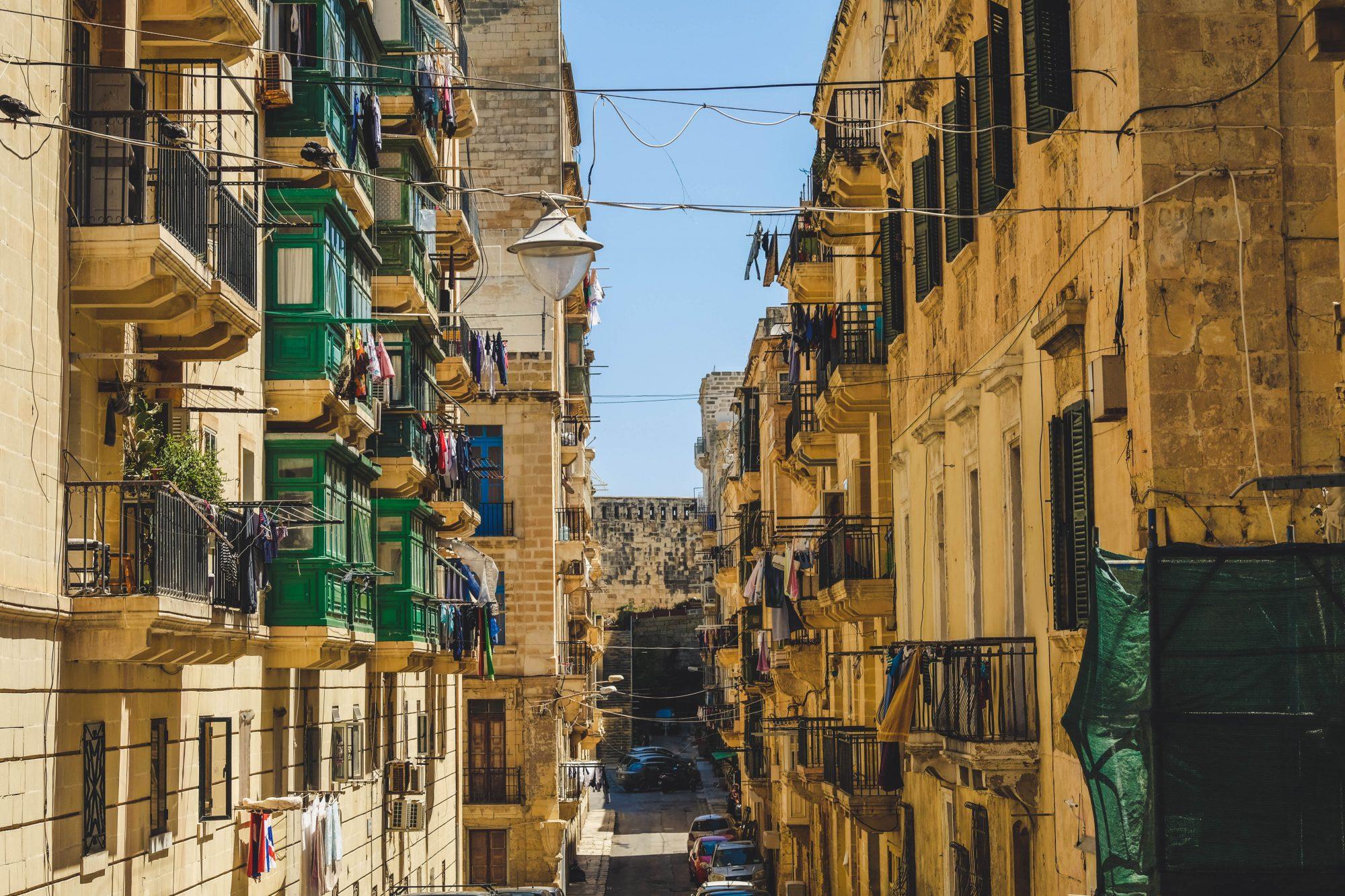 Rue de Malte populaire - La Valette Malte