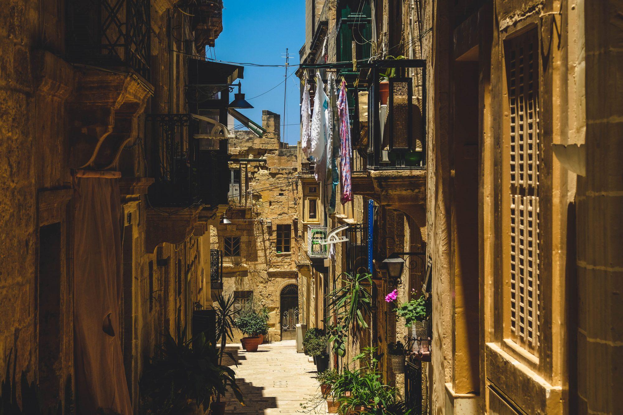 Quartier populaire des 3 cités - La Valette Malte