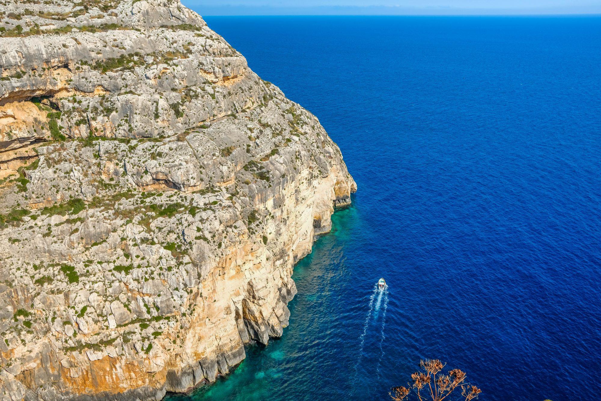 Vue depuis le point panoramique- Il-Qrendi, Malte