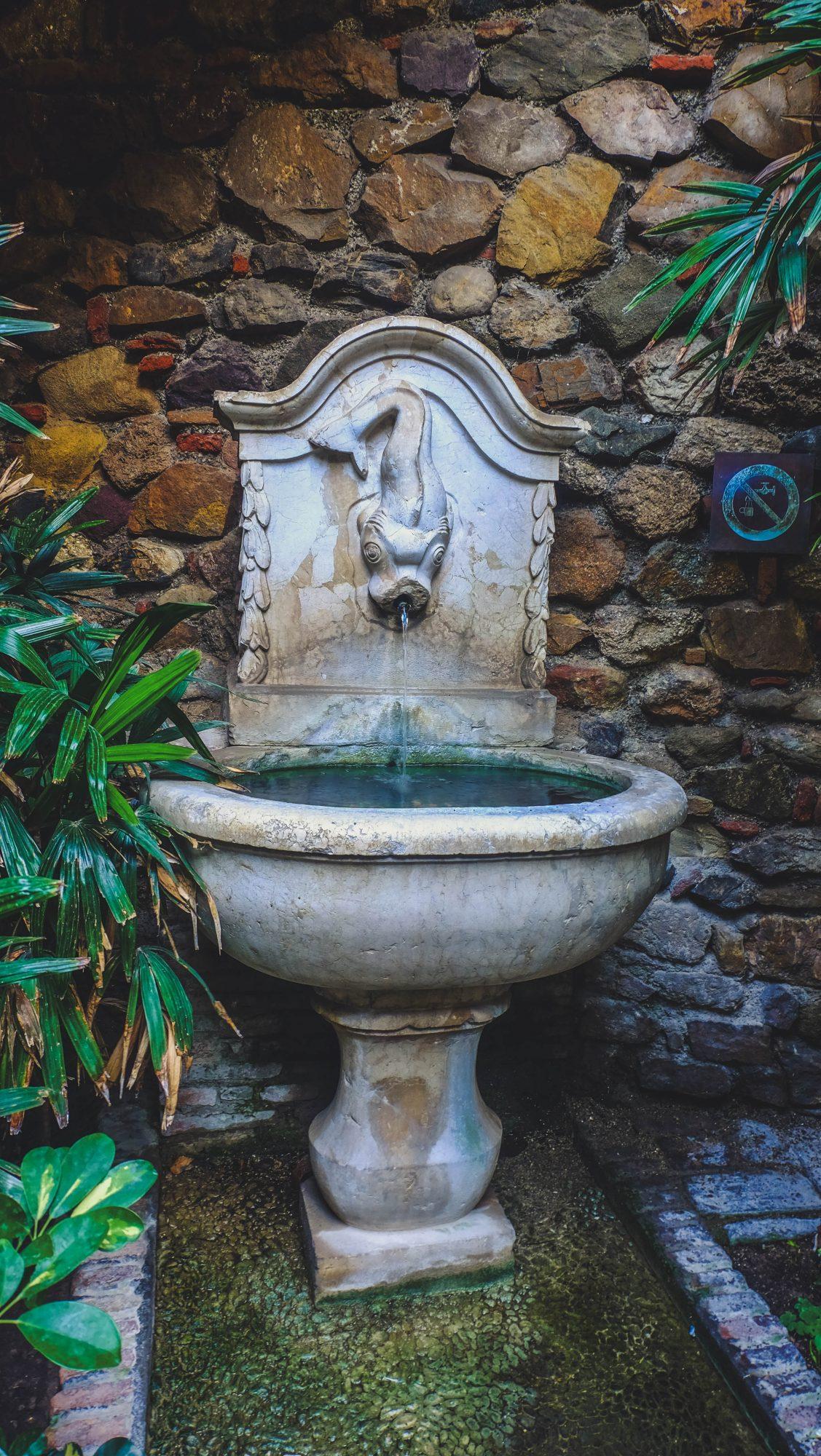 Fontaine poisson - Malaga, Espagne