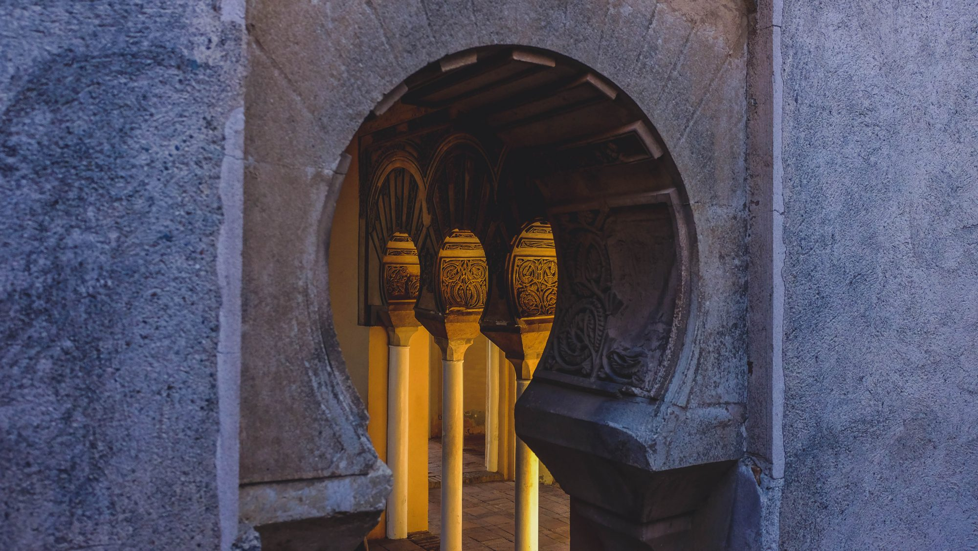 Jeu de lumières - Malaga, Espagne