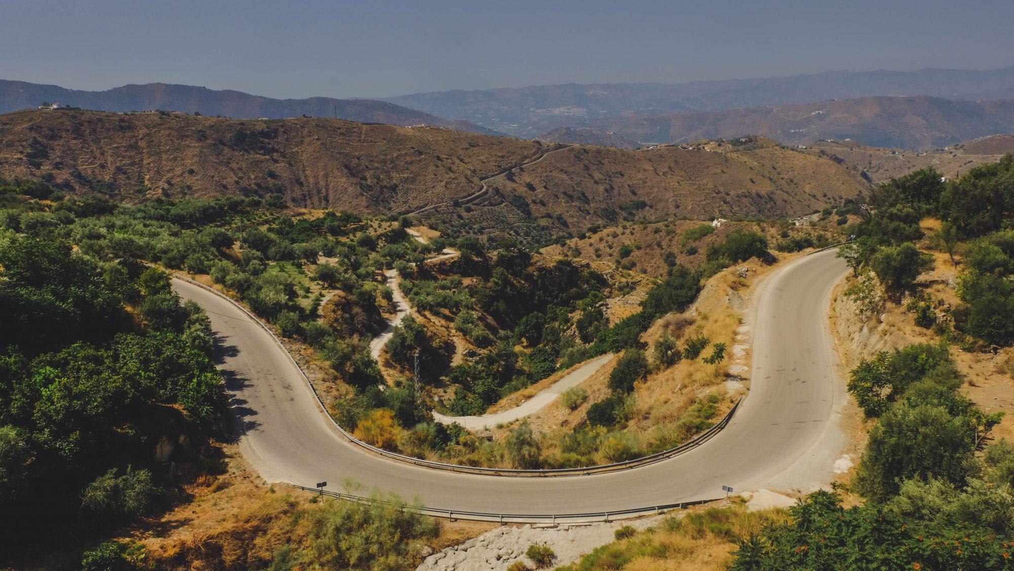 Route de montagne - El Chorro, Espagne