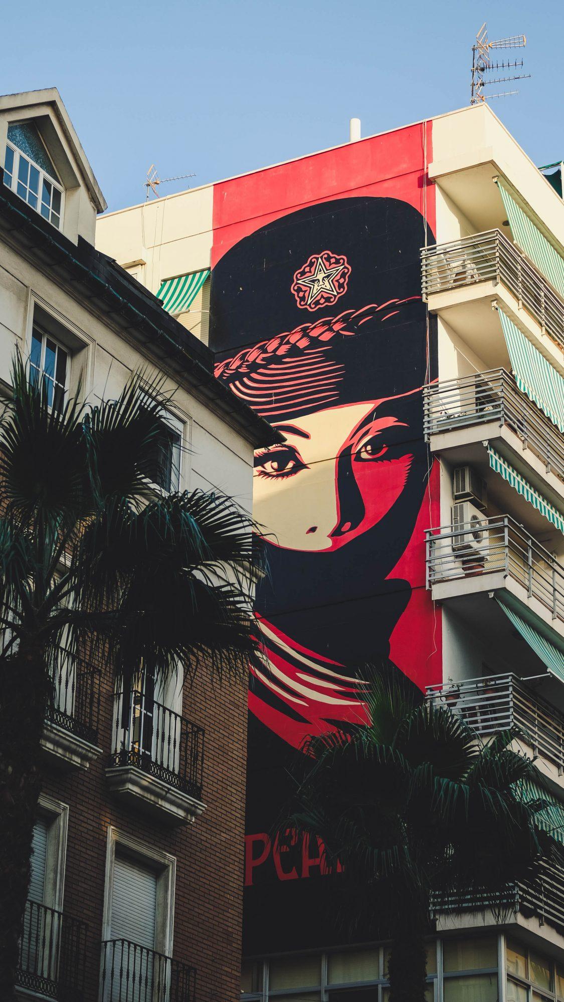 Obey sur rue - Malaga, Espagne