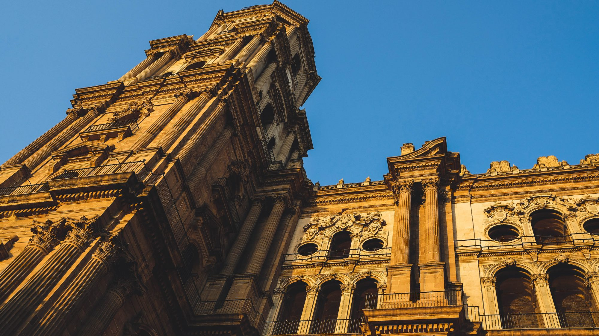Face Ouest de la cathédrale de la réincarnation de Malaga - Malaga, Espagne