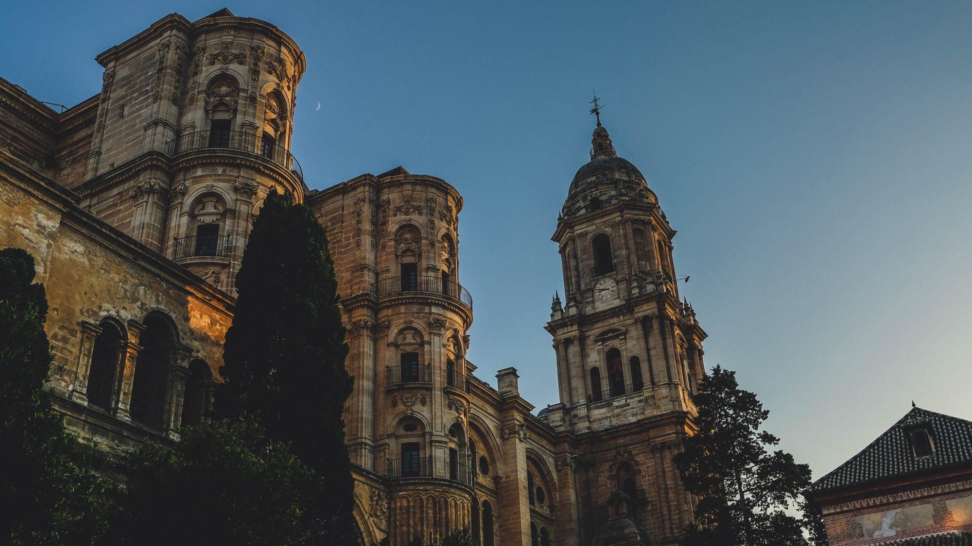 Facade Nord de la cathédrale de la réincarnation de Malaga - Malaga, Espagne