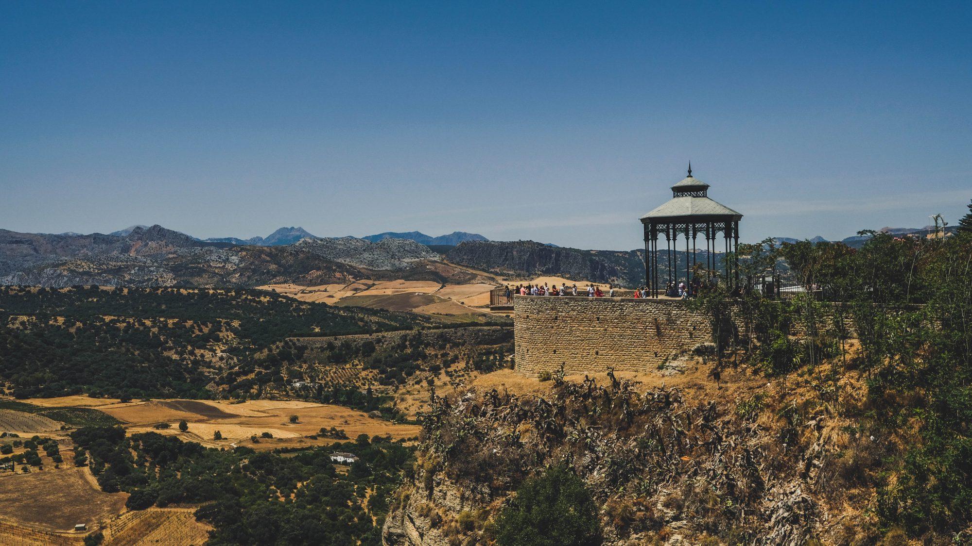 Kioske à musique en vue - Ronda, Espagne