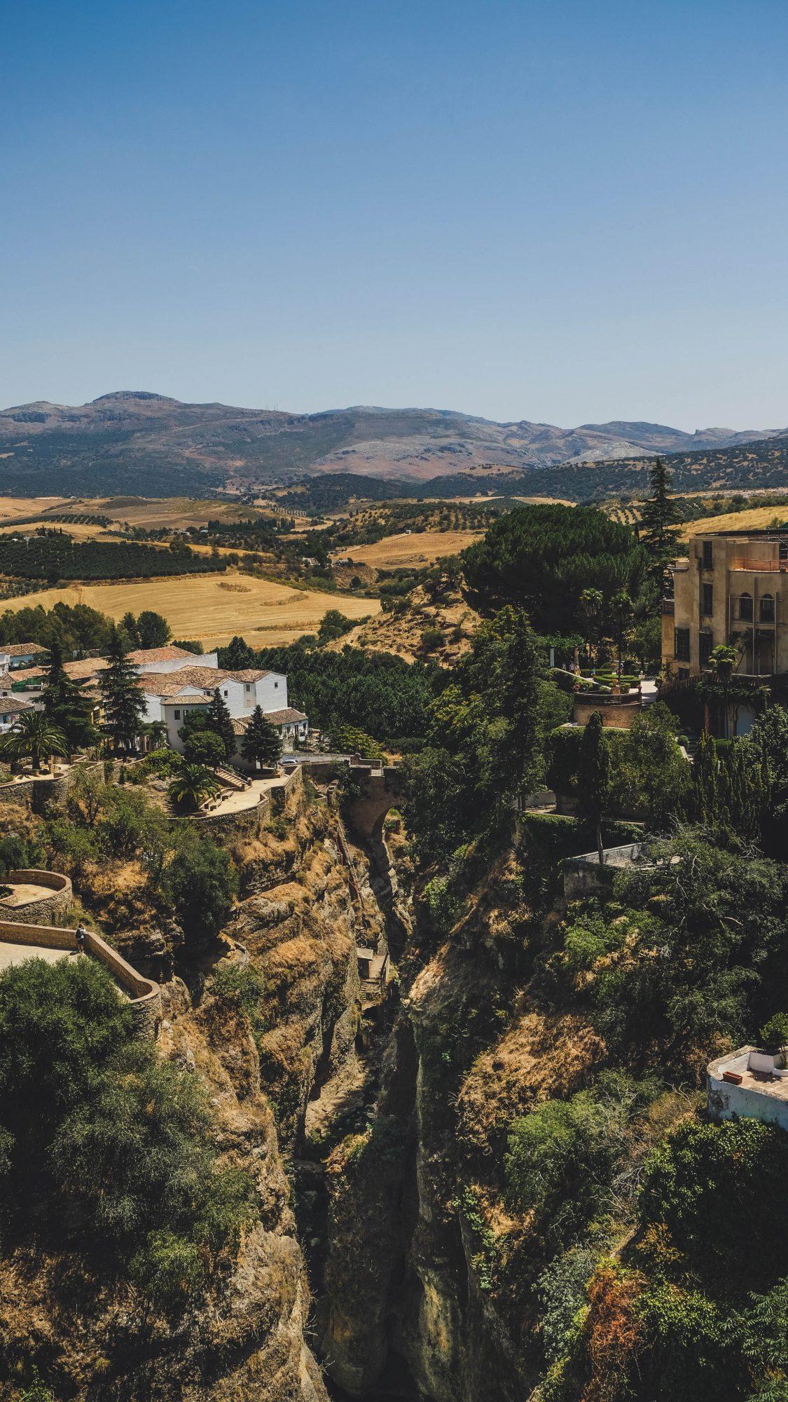 Vue sur le vieux pont - Ronda, Espagne