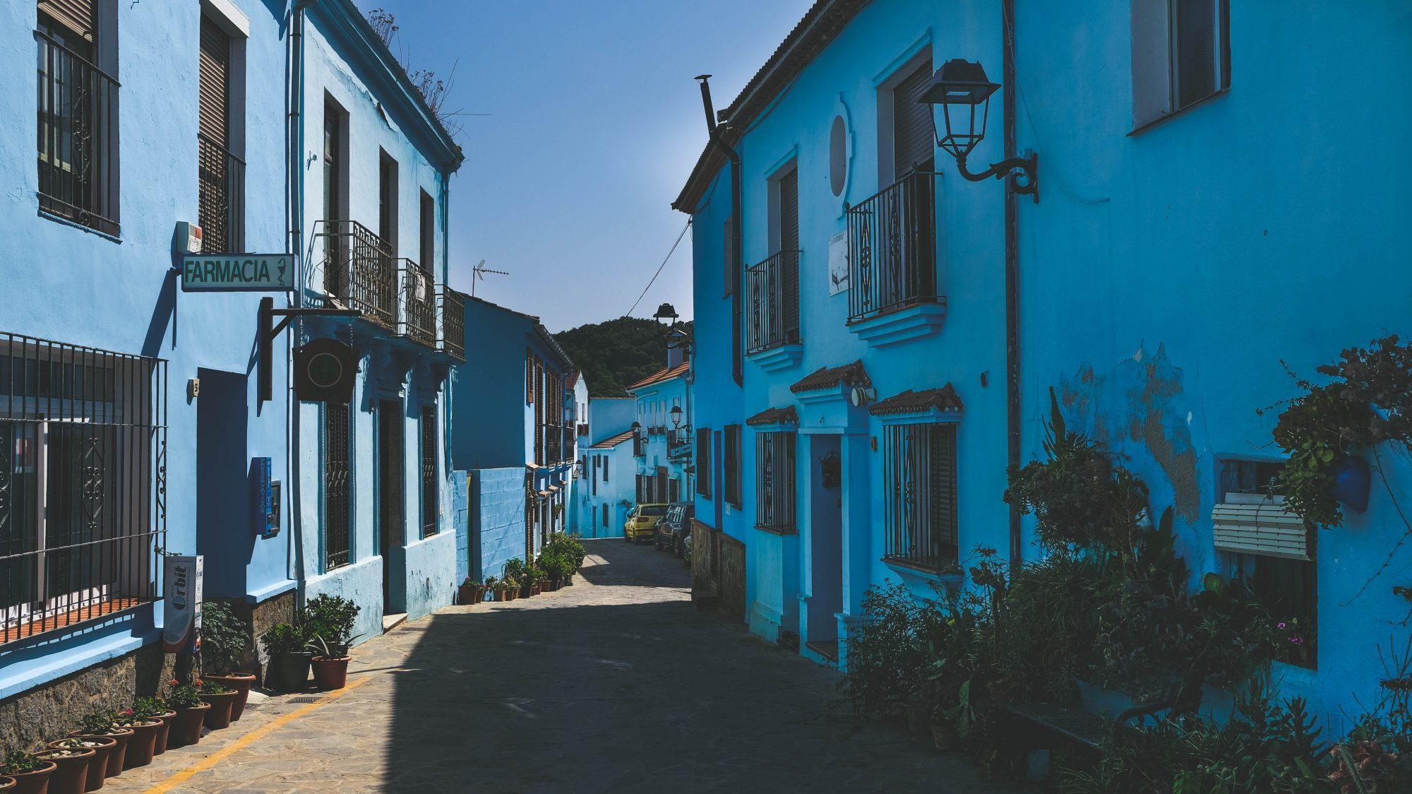 Juzcar du milieu - Juzcar, Espagne