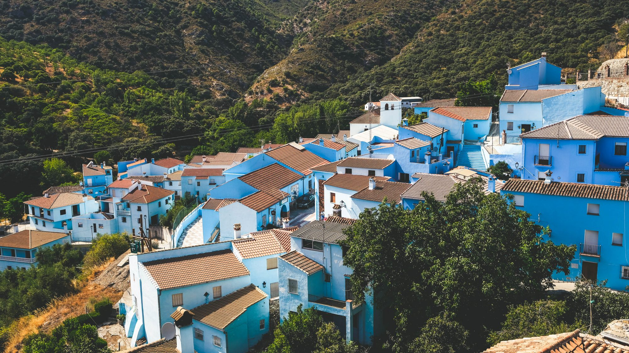 Juzcar d'en haut - Juzcar, Espagne