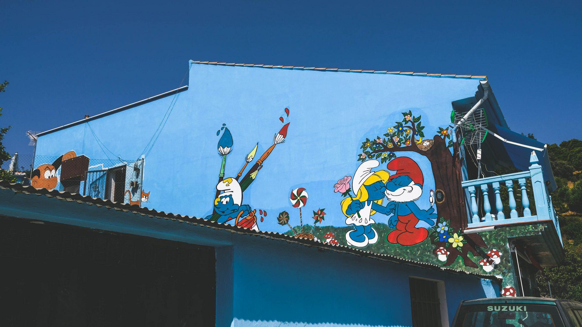 Juzcar et les schtroumpfs - Juzcar, Espagne