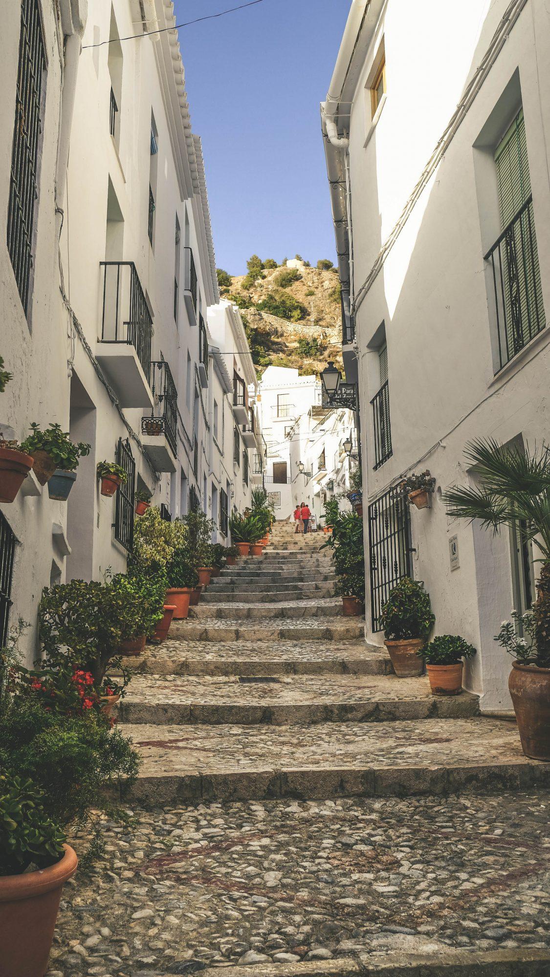 Ruelle fleurie - Frigiliana, Espagne