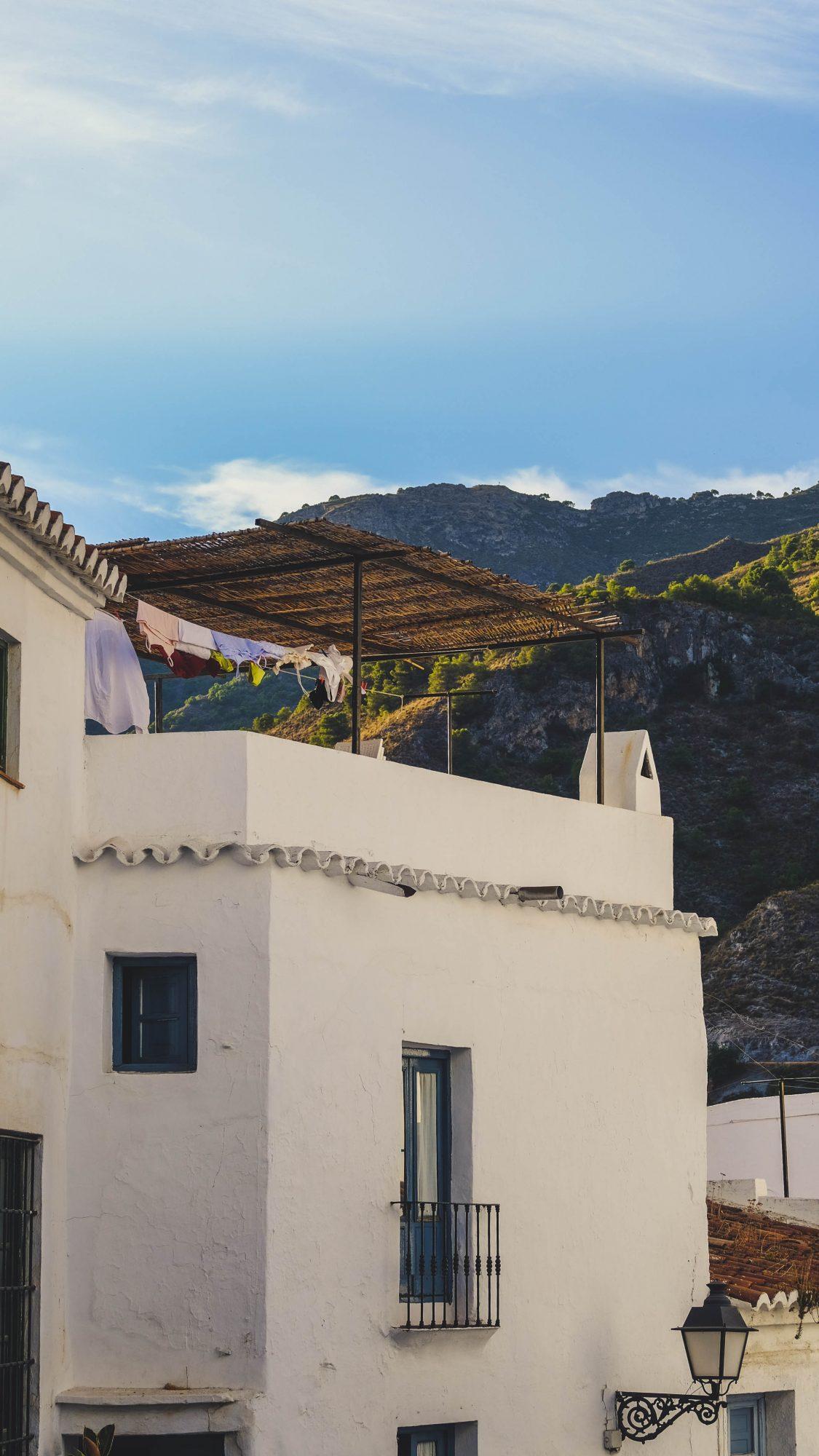 Linge au vent - Frigiliana, Espagne