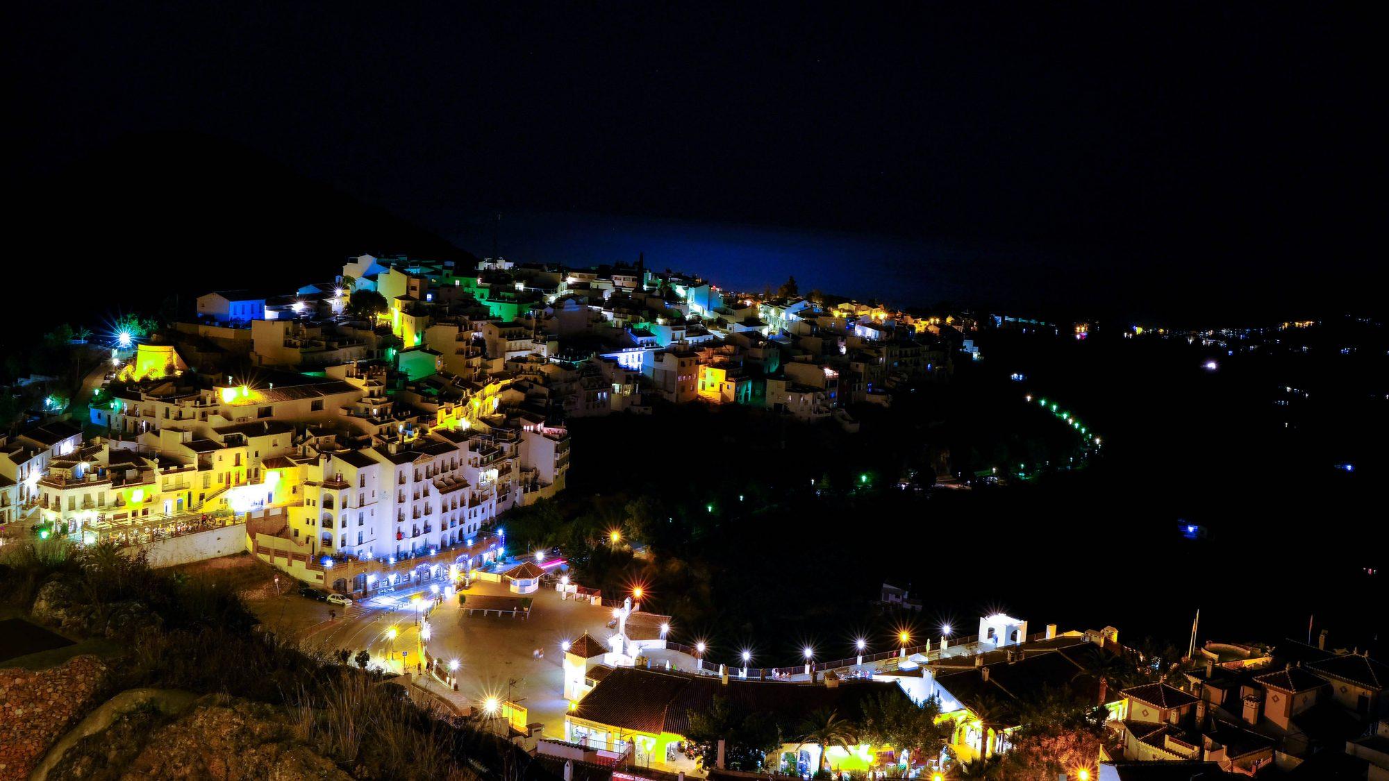 Frigiliana de nuit - Frigiliana, Espagne