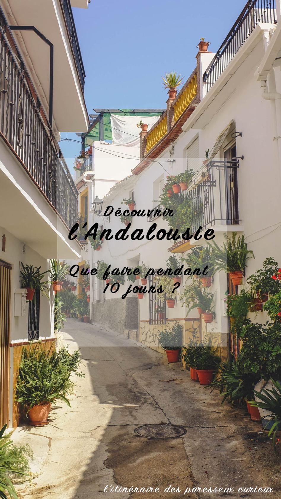 Itinéraire Andalousie Pinterest