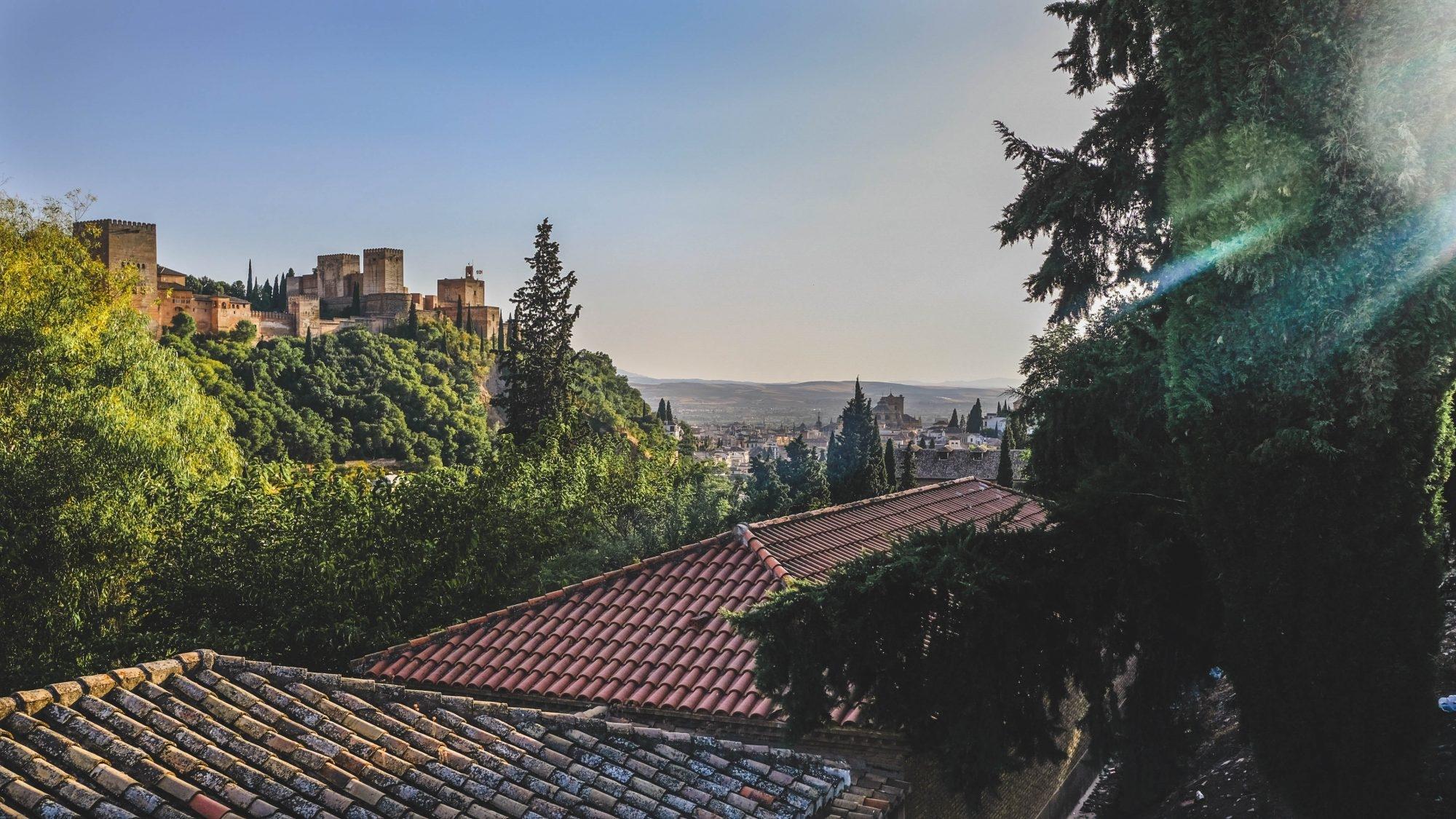 Vue sur l'Alhambra depuis Sacromonte