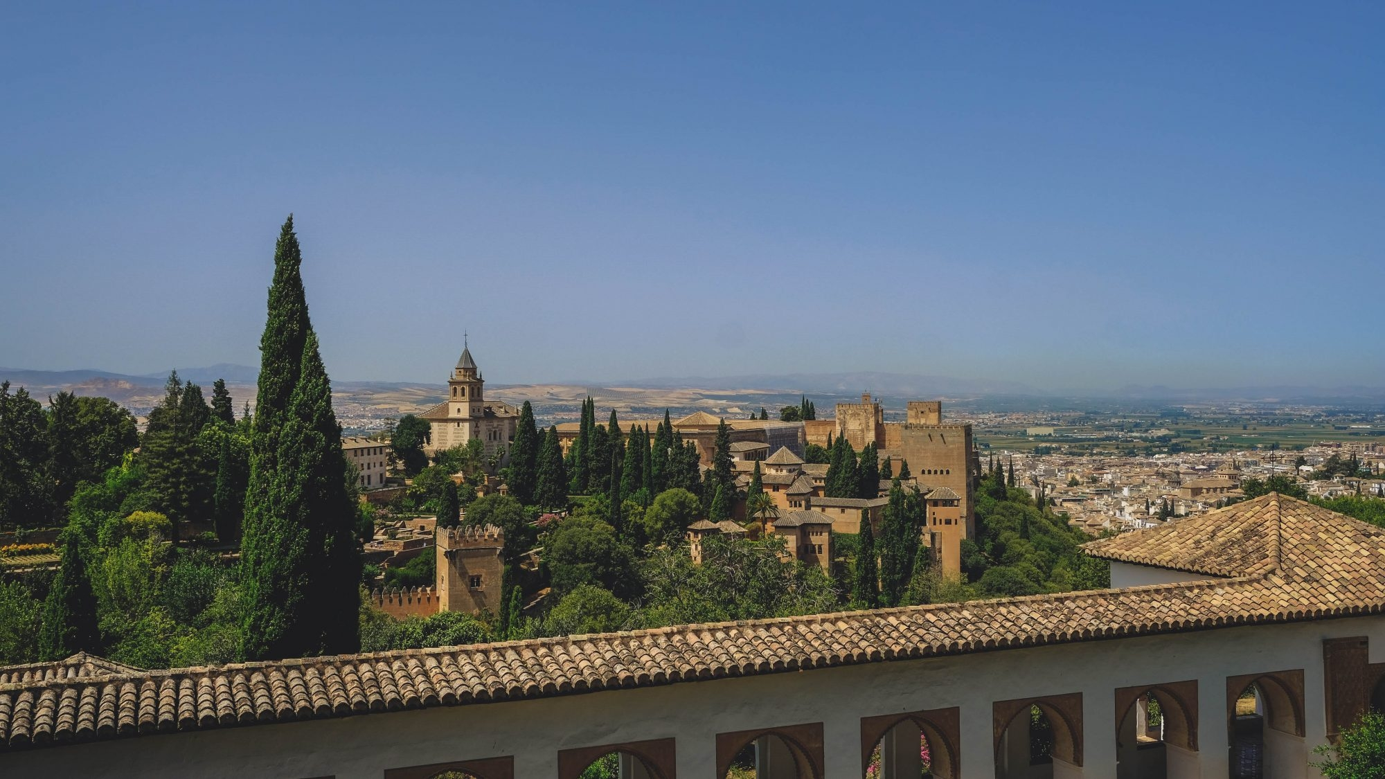 Vue du Generalife - Alhambra de Grenade