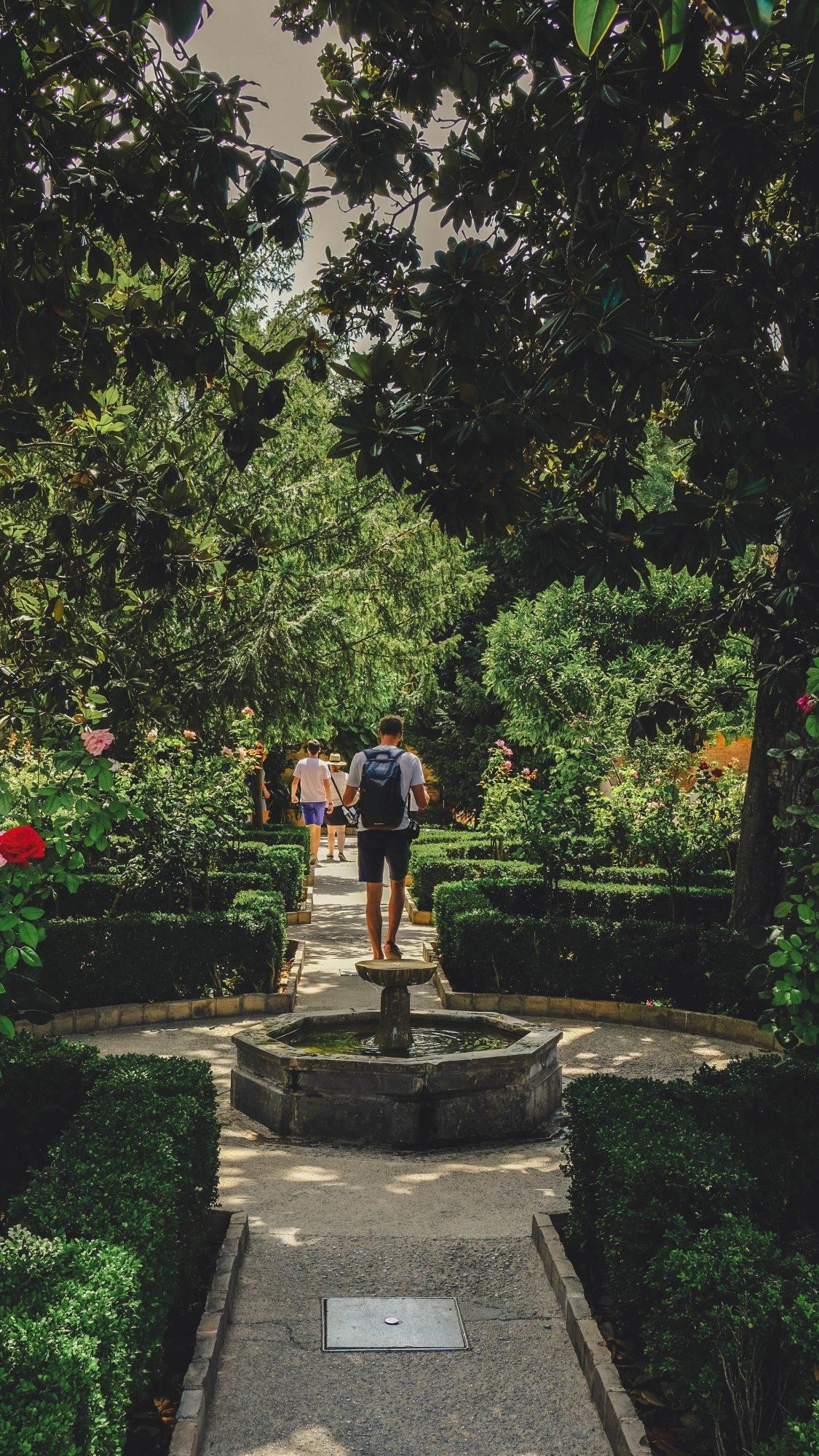 Les jardins et les fontaines de l'Alhambra