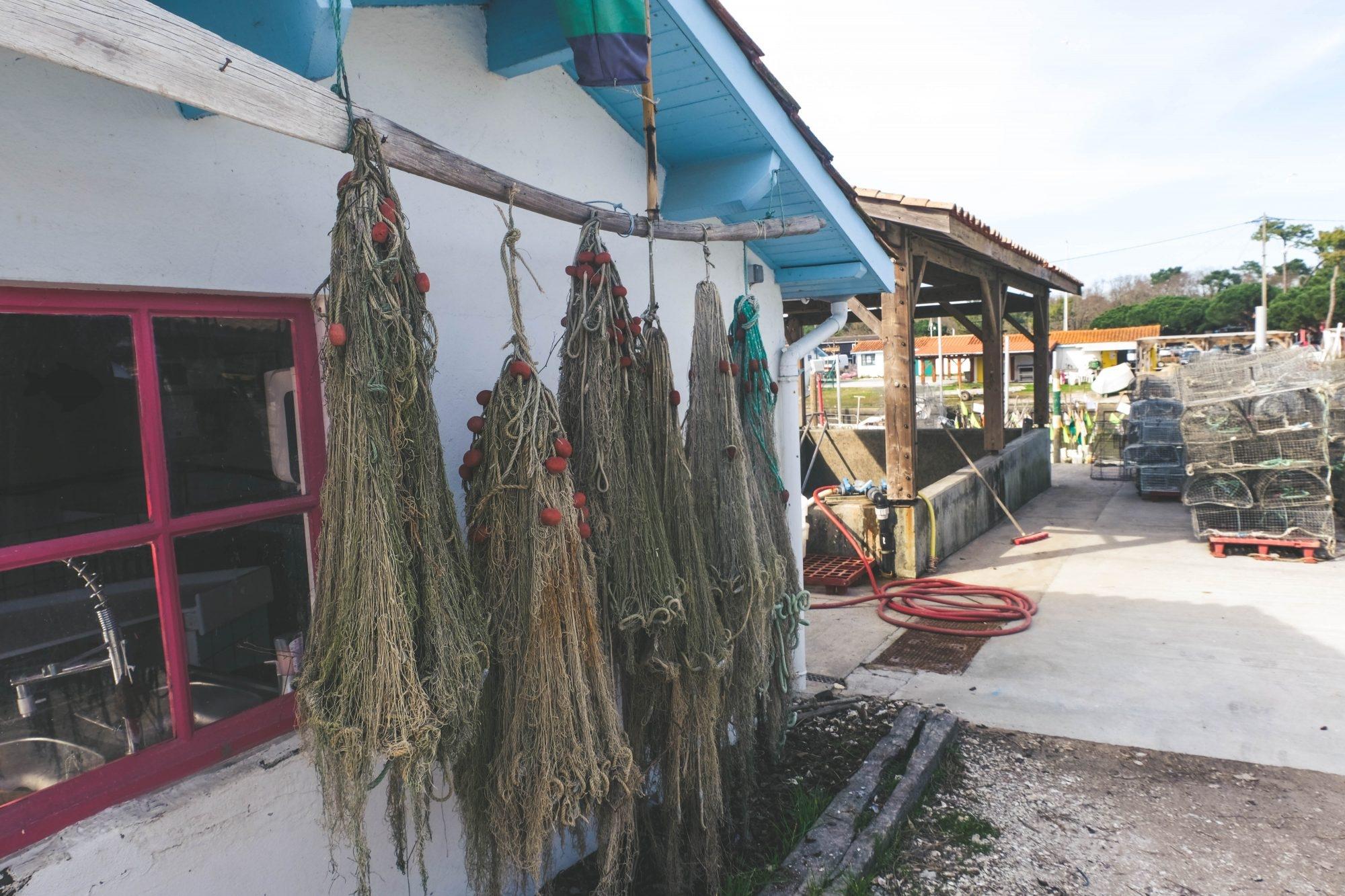Filets ostréicoles à Andernos les bains