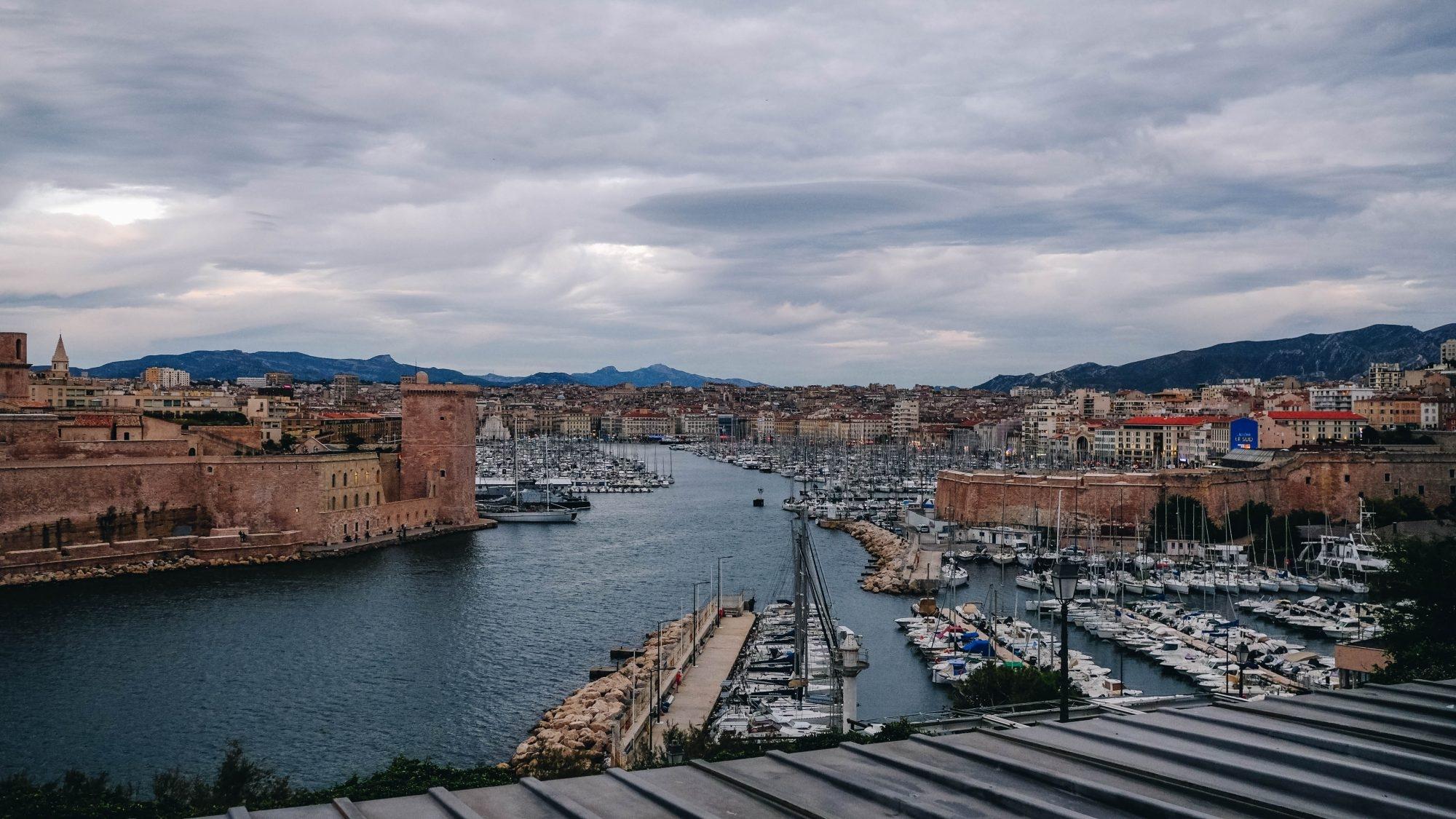 Vue depuis le parc Emile Duclaux Marseille