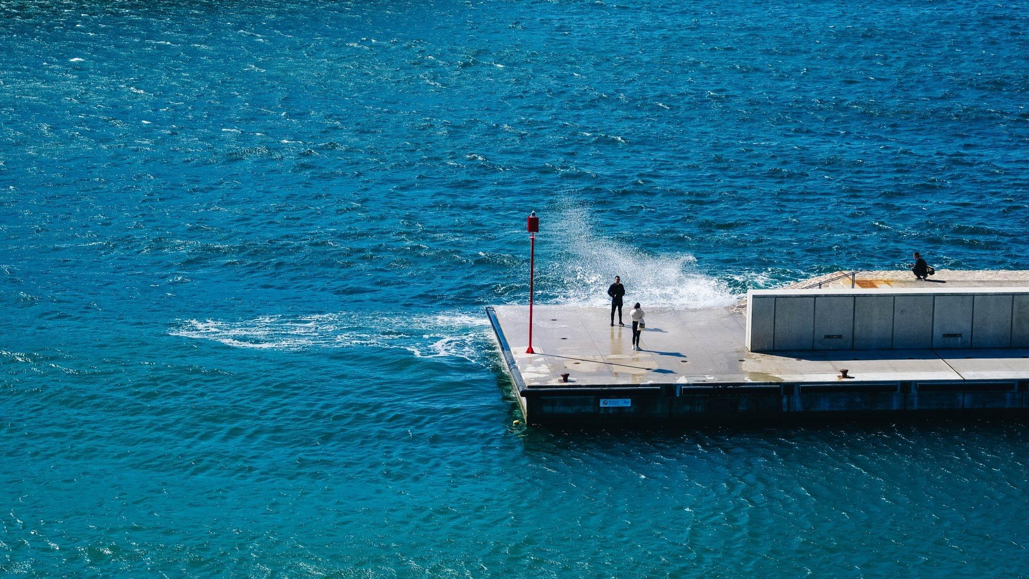Jetée du port Marseille