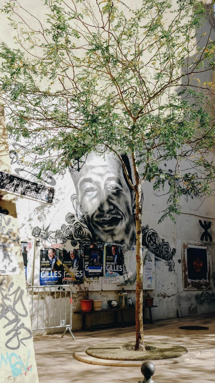 Oeuvre Street Art dans le Panier, Marseille France