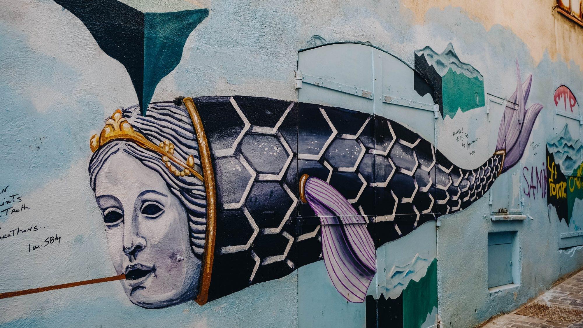 Street Art dans le Panier, Marseille France