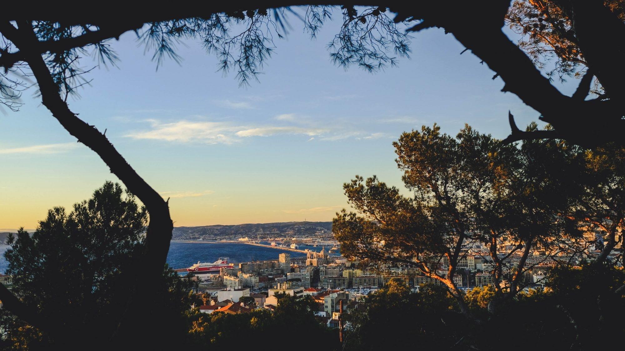 Vue en hauteur de Marseille