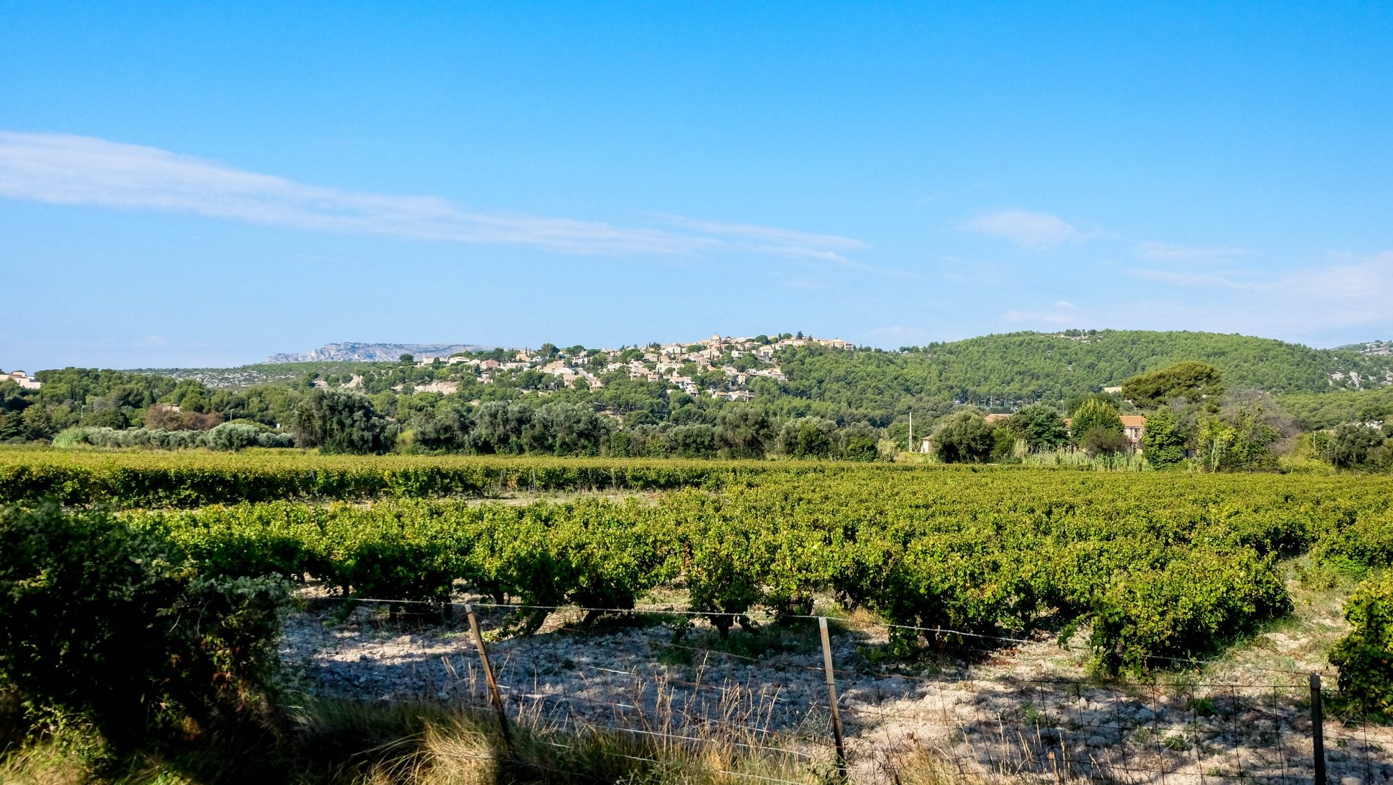 Petite village au dusses des vignobles de Cassis