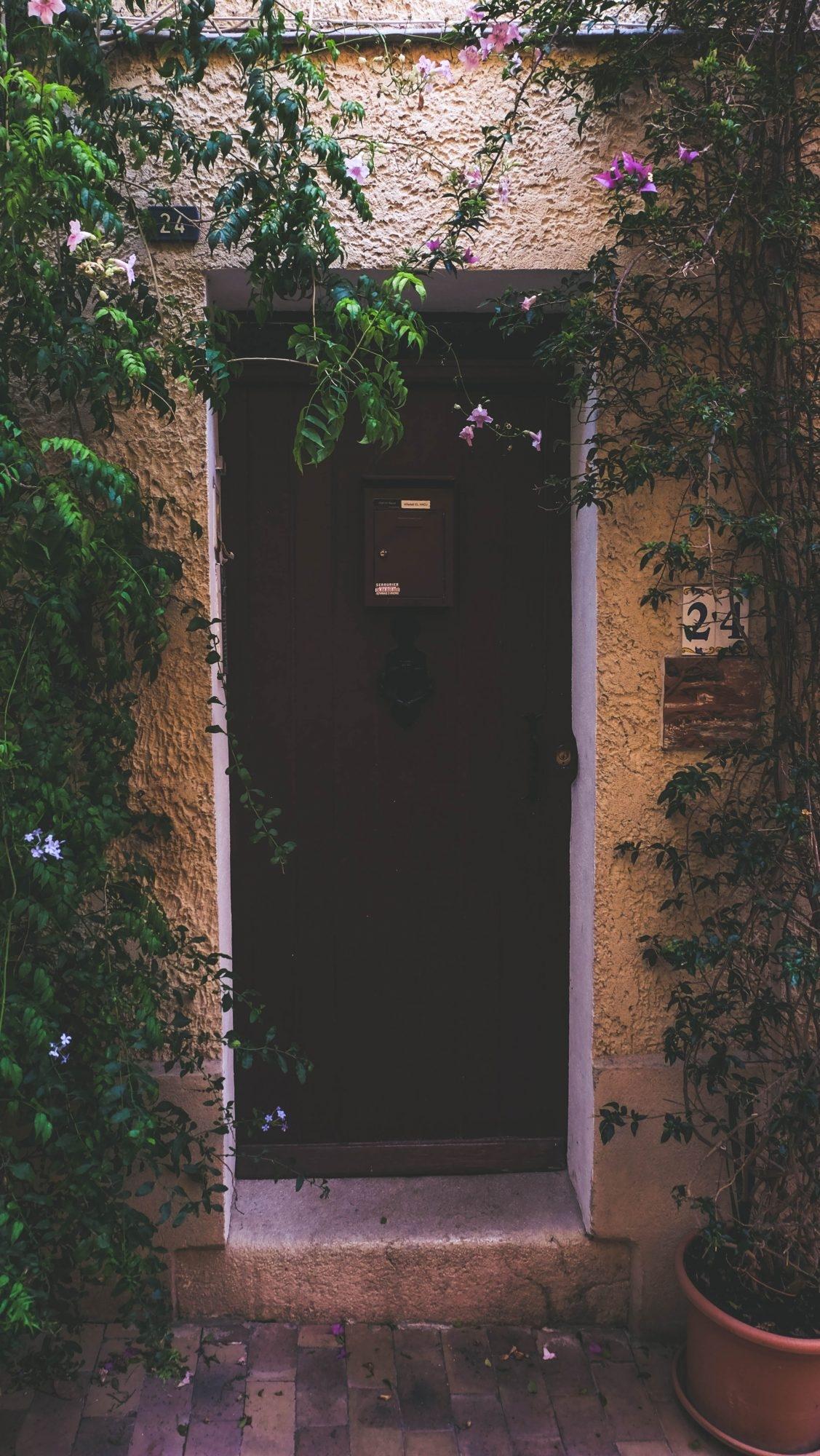 Porte dans la végétation