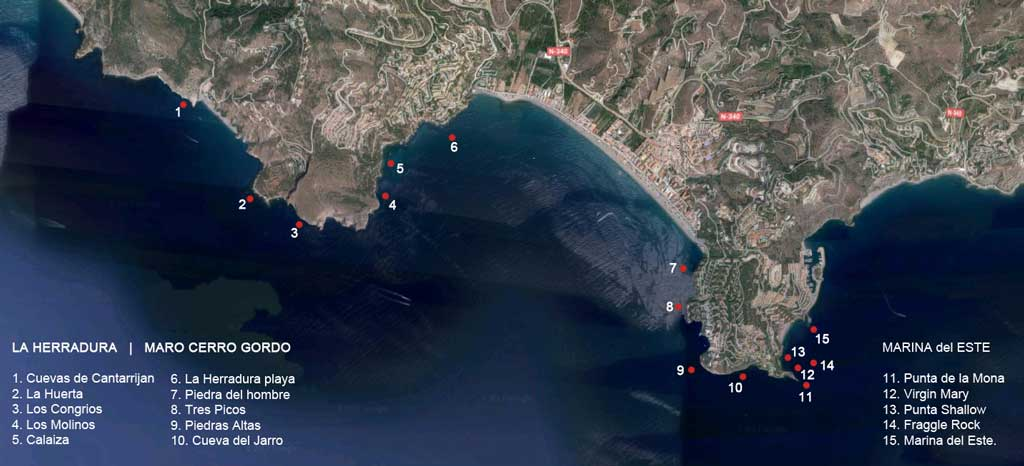 La Herradura - Diving Spots