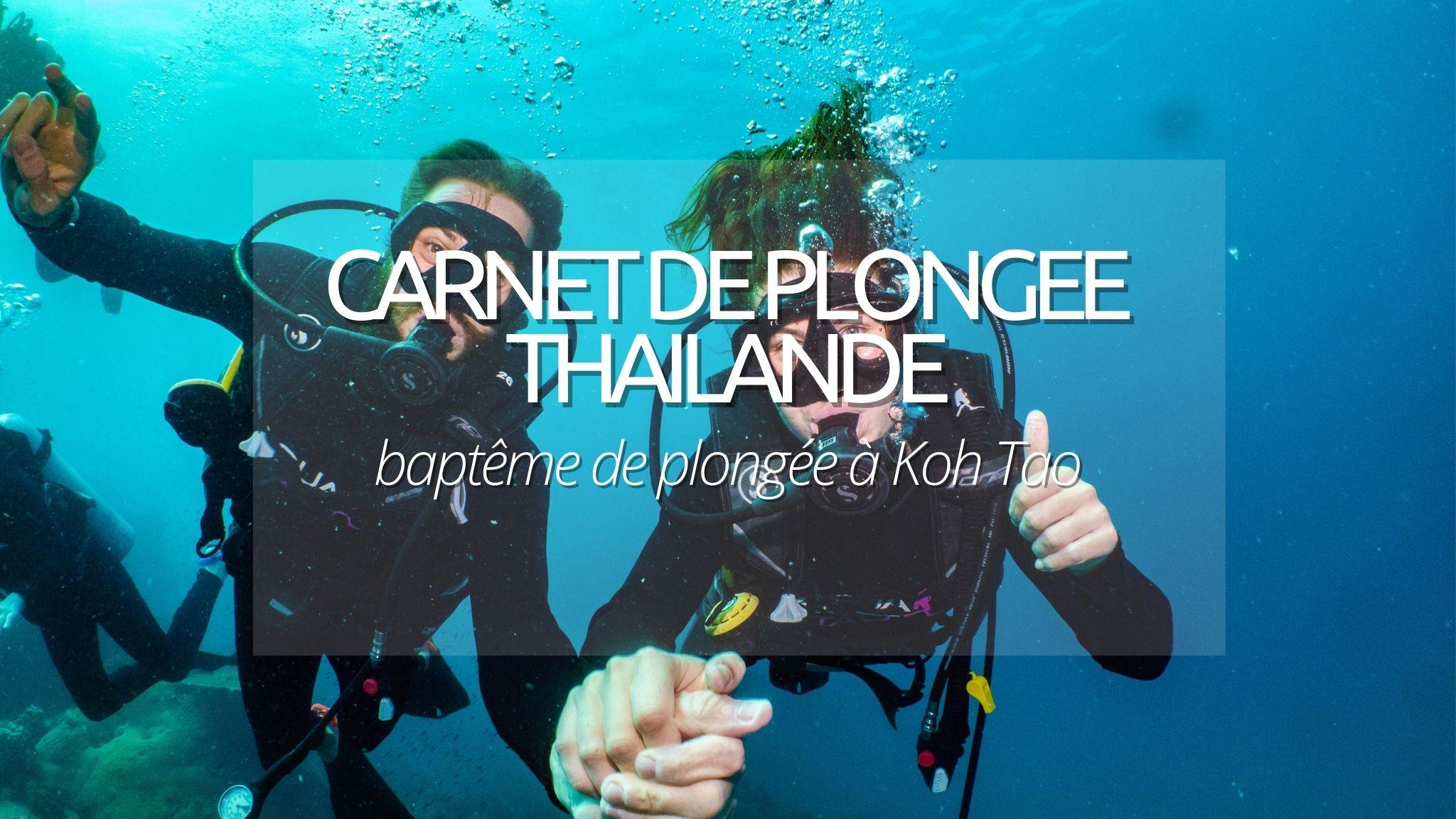 Guide plongée : Koh Tao, baptême en Thaïlande
