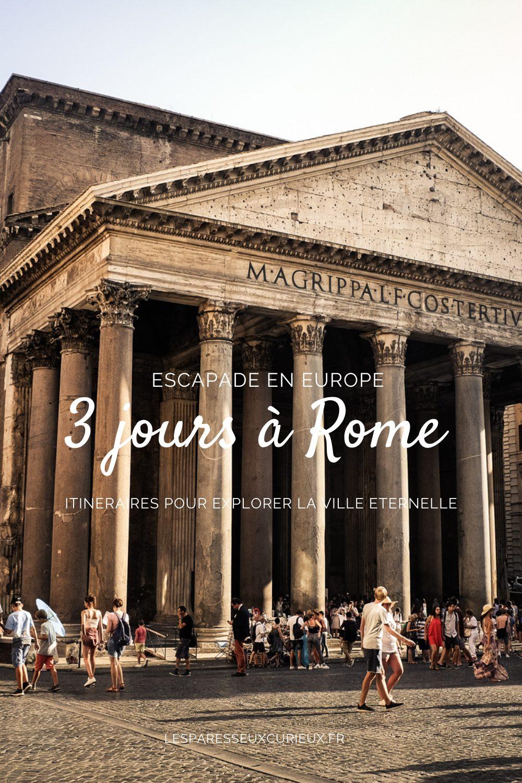 Epingle Pinterest pour 3 jours à Rome photo Panthéon