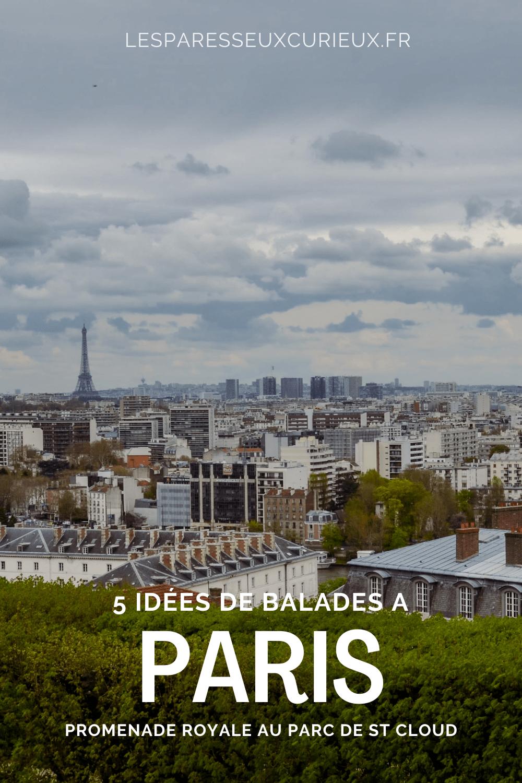 Promenade Parc de ST Cloud à Paris