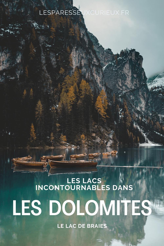 lago di brai : incontournable lacs dans les Dolomites