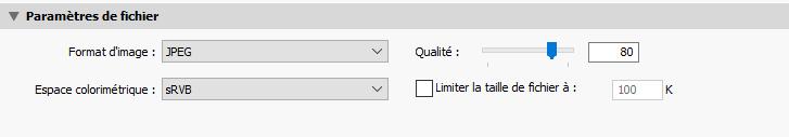 Qualité des images avec un export web lightroom