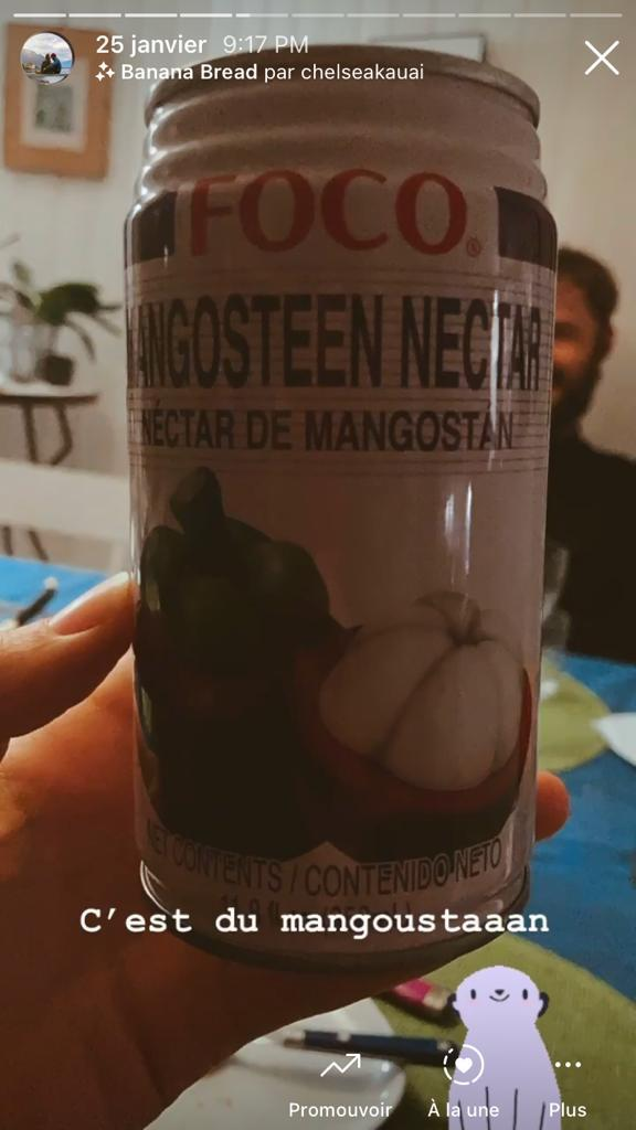 boisson au nectar de mangoustan
