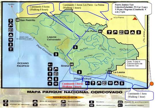 plan du parc national du corcovado