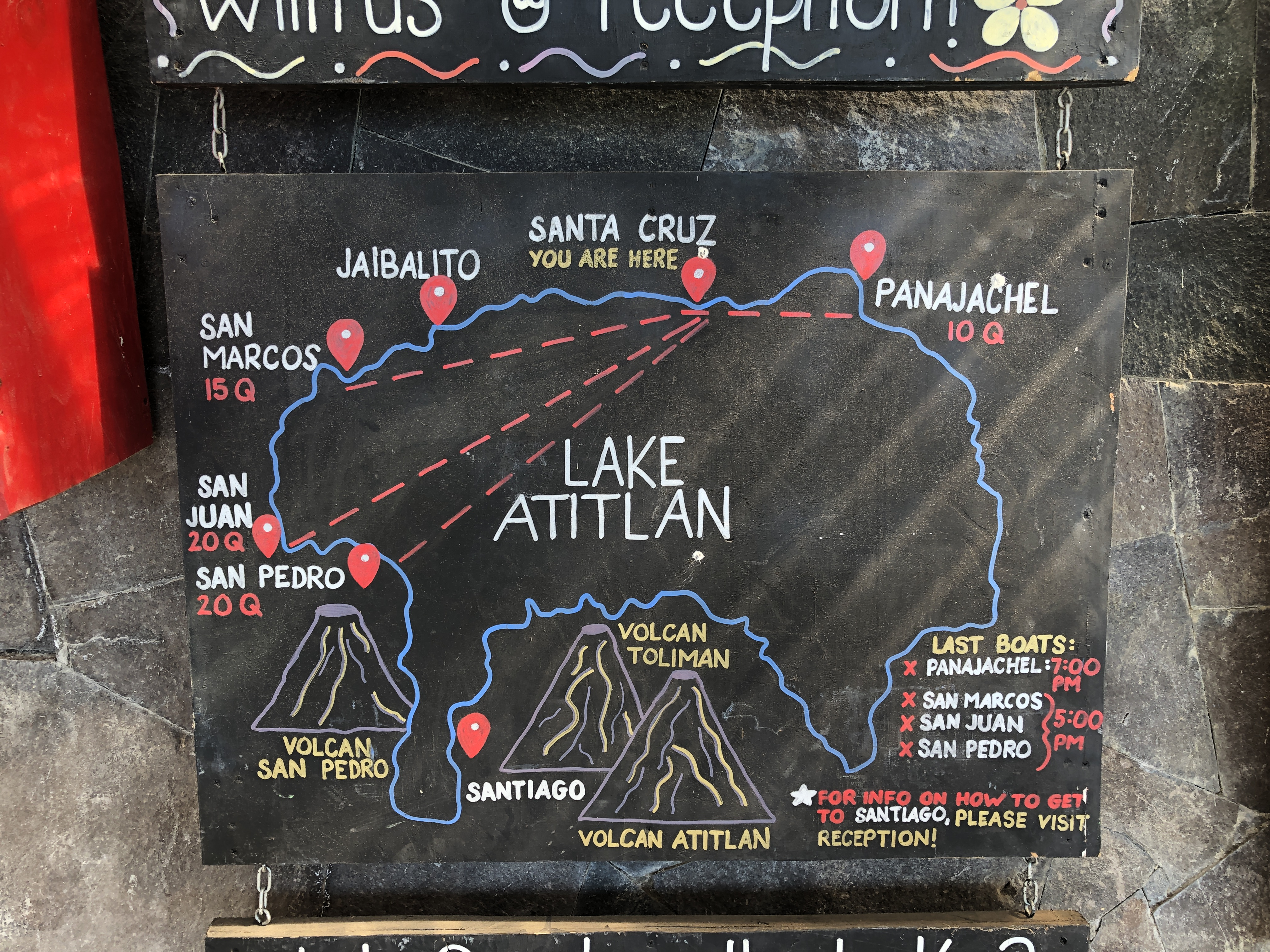 prix des bateaux à Atitlan