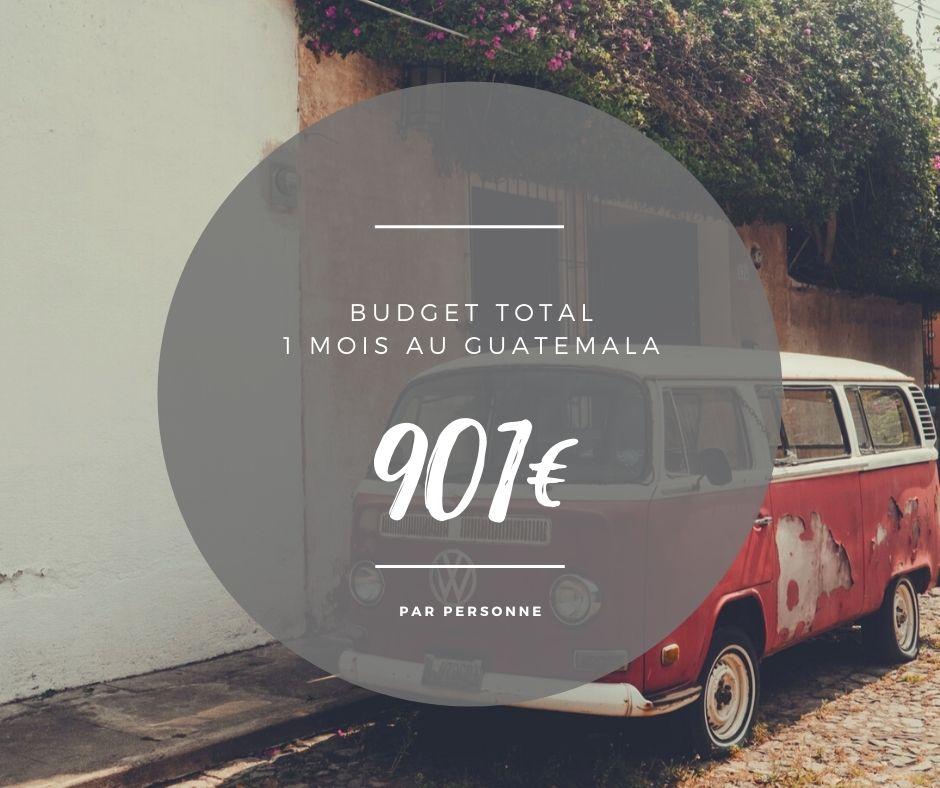 budget total par personne au guatemala